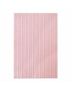 Knitted 3-D Textured Impressions Embossing Folder - Jessica Scott - Sizzix*