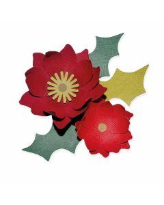 Winter Poinsettia Bigz Die - Lisa Jones - Sizzix*