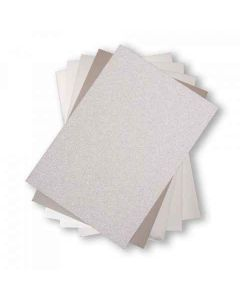 "Silver Opulent 8"" x 11"" Cardstock - Surfacez - Sizzix*"