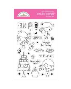 Birthday Girl Doodle Stamps - Hey Cupcake - Doodlebug*