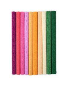 """Color Splash 12"""" x 24"""" Crepe Paper Assortment - Let It Bloom - Sizzix Surfacez - Sizzix"""