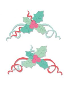 Boughs of Holly Thinlits Dies - Sizzix