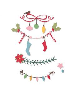 Christmas Borders Thinlits Dies - Sizzix