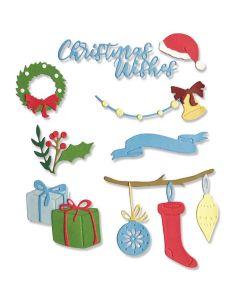 Christmas Decorations Thinlits Dies - Sizzix