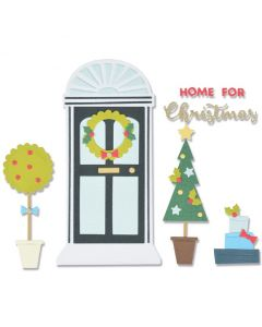 Home for Christmas Thinlits Dies - Sizzix