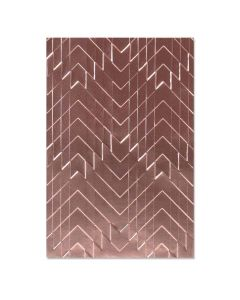 Staggered Chevrons 3-D Textured Impressions Embossing Folder - Georgie Evans - Sizzix*