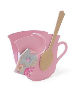 Teacup, 3-D & Spoon ScoreBoards L Die - Eileen Hull - Sizzix*