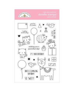 Party Animals Girl Doodle Stamps - Hey Cupcake - Doodlebug*