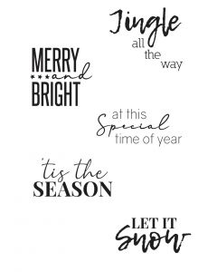 Festive Sentiments #2 Clear Stamps - Olivia Rose - Sizzix