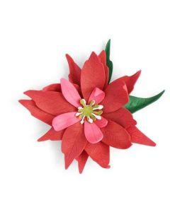 Poinsettia Flower Thinlits Dies - Let It Bloom - Olivia Rose - Sizzix