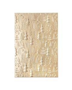 Christmas Tree Pattern 3-D Textured Impressions Embossing Folder - Kath Breen - Sizzix