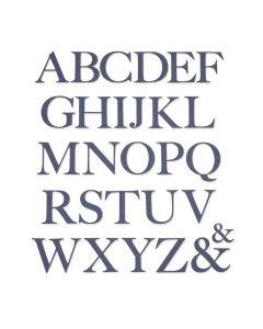 Serif Alphabet Thinlits Dies - Botanical - Lisa Jones - Sizzix