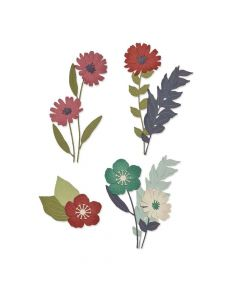 Wild Blooms Thinlits Dies - Botanical - Lisa Jones - Sizzix