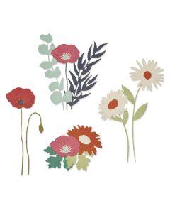 Wild Blooms #2 Thinlits Dies - Botanical - Lisa Jones - Sizzix