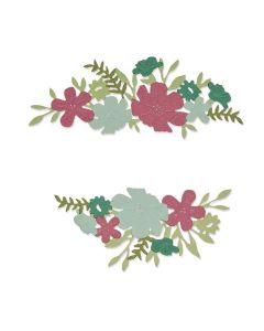 Wild Blossom Borders Thinlits Dies - Botanical - Lisa Jones - Sizzix