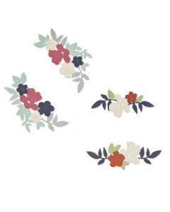 Wild Blossom Corners Thinlits Dies - Botanical - Lisa Jones - Sizzix