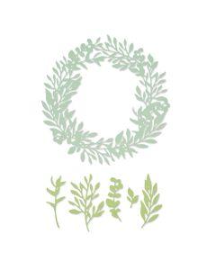 Wild Leaves Wreath Thinlits Dies - Botanical - Lisa Jones - Sizzix