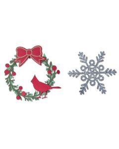 Wreath & Snowflake Thinlits Dies - Eileen Hull - Sizzix