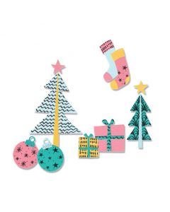 Groovy Christmas Framelits Dies w/ Stamps - Olivia Rose - Sizzix