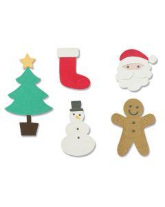 Basic Christmas Shapes Thinlits Dies - Debi Potter - Sizzix