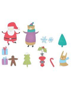 Doodle Christmas Thinlits Dies - Olivia Rose - Sizzix
