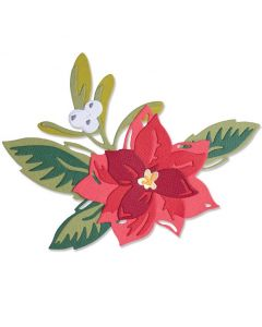 Layered Christmas Flower Thinlits Dies - Lisa Jones - Sizzix
