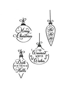 Christmas Baubles Clear Stamps - Olivia Rose - Sizzix