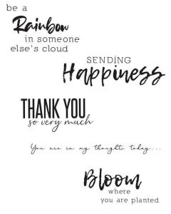 Sunnyside Sentiments #1 Clear Stamps Set - Sizzix*
