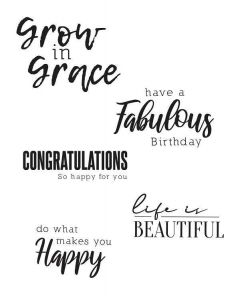Sunnyside Sentiments #4 Clear Stamps Set - Sizzix*