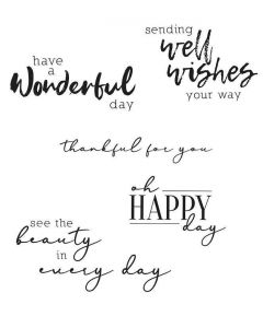 Sunnyside Sentiments #5 Clear Stamps Set - Sizzix*