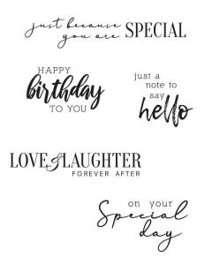 Sunnyside Sentiments #6 Clear Stamps Set - Sizzix*