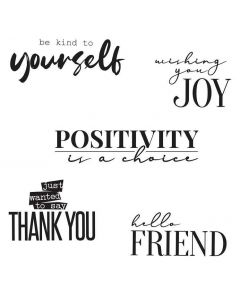 Sunnyside Sentiments #8 Clear Stamps Set - Sizzix*