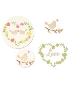 Mini Love Birds Thinlits Dies - Lisa Jones - Sizzix