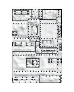 Mini Foundry 3-D Texture Fades Embossing Folder - Tim Holtz - Sizzix