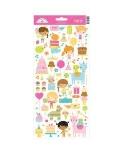 Hey Cupcake Icons Sticker - Doodlebug*