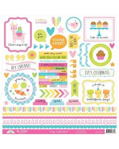 Hey Cupcake This & That Sticker - Doodlebug*