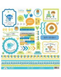 Party Time This & That Sticker - Doodlebug*