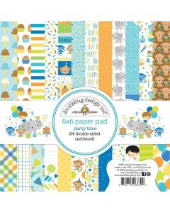 """Party Time 6"""" x 6"""" Paper Pad - Doodlebug*"""