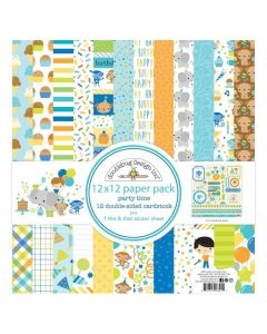 """Party Time 12"""" x 12"""" Paper Pad - Doodlebug*"""