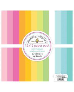 Hey Cupcake Textured Cardstock - Doodlebug*
