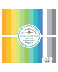 Party Time Textured Cardstock - Doodlebug*