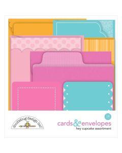 Hey Cupcake Cards & Envelopes - Doodlebug*