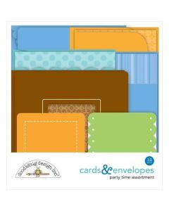 Party Time Cards & Envelopes - Doodlebug*