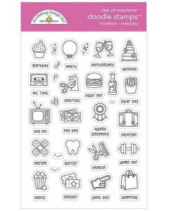 Everyday Occasions Doodle Stamps - Calendar Stamps - Doodlebug*