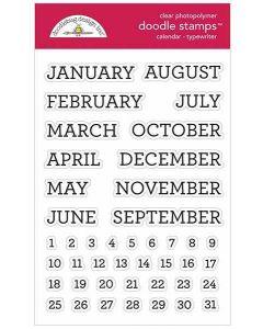 Typewriter Doodle Stamps - Calendar Stamps - Doodlebug*