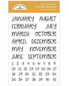 Handwritten Doodle Stamps - Calendar Stamps - Doodlebug*