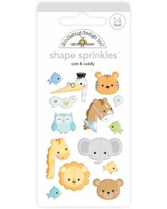 Cute & Cuddly Shape Sprinkles - Special Delivery - Doodlebug