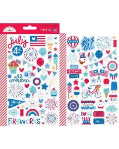 Land That I Love Mini Icons Stickers - Doodlebug
