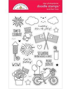 Land That I Love Doodle Stamps - Doodlebug