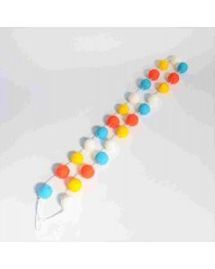 Summer Felt Balls Garland - Tiered Tray Decor - Foundations Decor